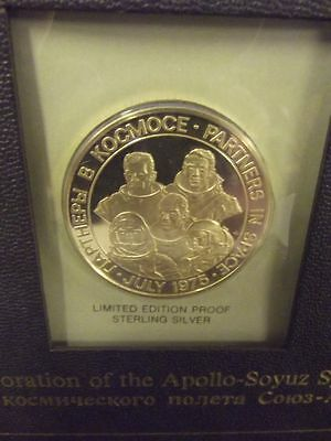 Medaille: UdSSR, USA CCCP, Apollo Sojus Space Mission 1975 Silber [5699]