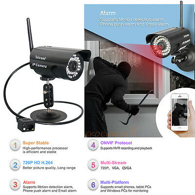 WiFi Outdoor Waterproof Wireless Night Home CCTV Security Network P2P IP Camera@