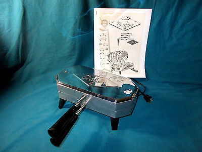 Vintage Dolce Pizzelle Cookie Baker 300 Ep Vgc With Instruction/recipe