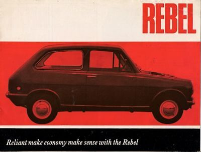 Reliant Rebel 600cc Saloon 1964-65 UK Market Sales Brochure