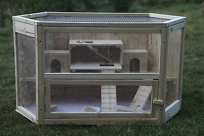 Brand New * Delux Hamster Mice Guinea Pig Stall Hutch House Cage Coop * ED03