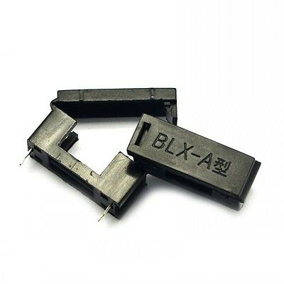 20PCS Fuse Holder Container with Cover BLX-A Type Black For 5mm x 20mm Fuse