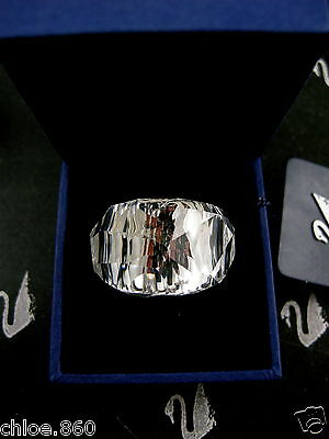 Signed Swarovski  Crystal Tibet  Ring Md 55 New In Box Rare Collector !