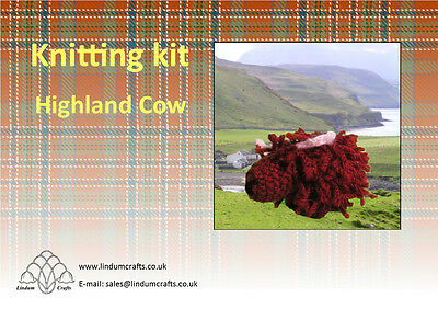 Highland Cow Knitting kit - Ideal Gift for Crafty people
