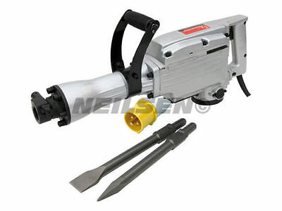 Neilsen 110V Kango Concrete Breaker Demolition Hammer Flat & Point Chisels