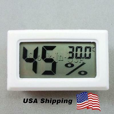 US Shipping Digital LCD Indoor Temperature Humidity Meter Thermometer Hygrometer