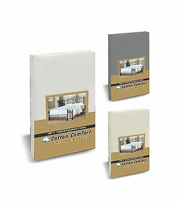 400 Thread Count 100% Egyptian Cotton Fitted, Flat Bed Sheets, All Uk Sizes
