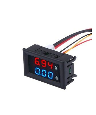 Quality DC 100V 10A Voltmeter Ammeter Blue + Red LED Amp Dual Digital VoltMeter