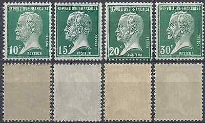France Timbre Type Pasteur N°170 N°171 N°172 N°174 Neuf ** Luxe Mnh Cote 22€