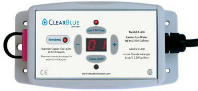 "ClearBlue Ionizer-2,500 Gal, 120v, electrodes, test kit & PVC Tee -2"" / 1 1/2"""