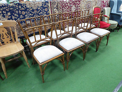 Set of 8 bentwood dining chairs