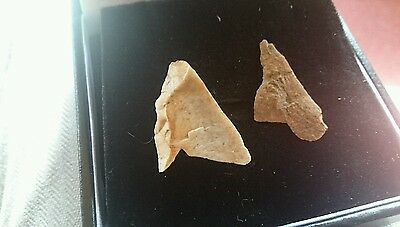 Neolithic flint arrow heads not finished found near York