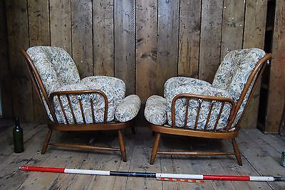 ERCOL ARMCHAIRS MINT golden dawn CHAIRS vintage London England Hove