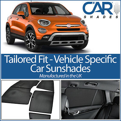 Fiat 500X 5dr 2014 on UV CAR SHADES WINDOW SUN BLINDS PRIVACY GLASS TINT BLACK