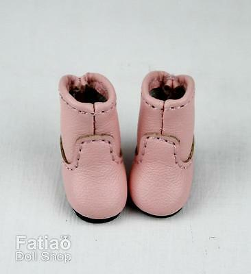 Fatiao New fit for pukipuki Brownie Middie Blythe BJD Doll Shoes Boots - Pink