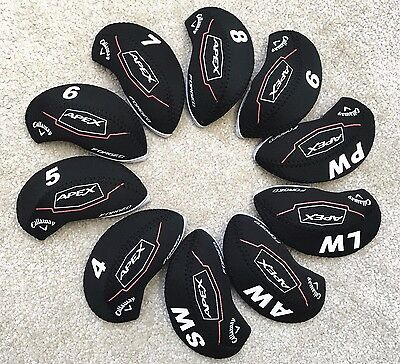 10PCS Black Neoprene Golf Iron Covers HeadCovers For Callaway Apex Forged Irons