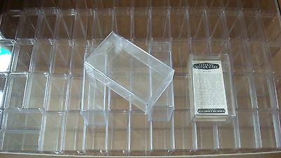10 Clear Perspex Storage Boxes -Holds 50 Standard Trade Tea Cig Card Storage New