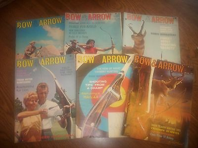vintage bowhunting magazine, 1964 BOW & ARROW ...full year...6 issues