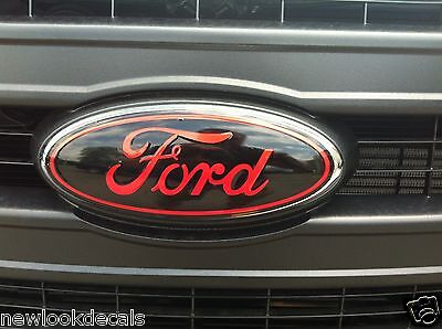 Front & rear oval emblem STICKER / DECAL OVERLAYS Fits 2004 - 2005 FORD F150