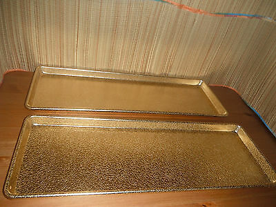 Vintage Wear Ever GOLDEN Trays LOT OF 2 ( 24X9 INCHES )