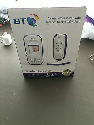 BT Video Baby Monitor 630 with 2inch Colour Display and 5 Lullabies