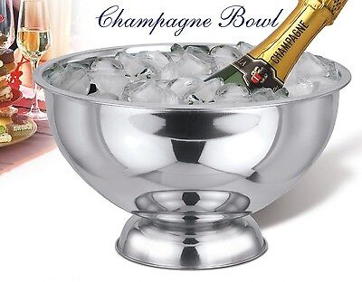 Stainless Steel Punch Bowl Champagne Wine Beer Cool Ice Bucket Bowl 10L Capacity