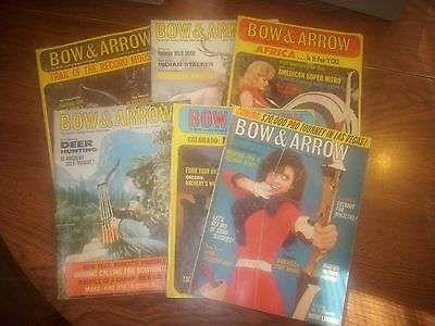 vintage bowhunting magazine, 1969 BOW & ARROW ...full year...6 issues