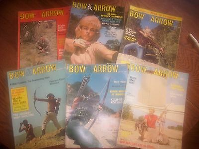 vintage bowhunting magazine, 1966 BOW & ARROW ...full year...6 issues