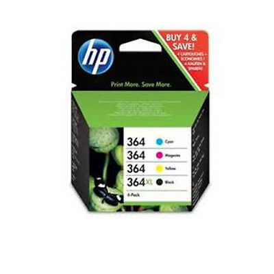 Set Original Genuine HP 364XL Black + 364 Cyan Magenta Yellow 4 Ink Multi Combo