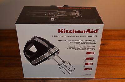 KitchenAid KHM926OB 9-Speed Digital Hand Mixer - Onyx Black