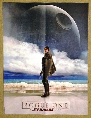 ROGUE ONE: A STAR WARS STORY Original POSTER Jyn Erso FELICITY JONES @New@
