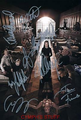American Horror Story : Asylum Cast Of 8 Signed Autograph Reprint #4
