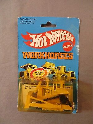 Hot Wheels Workhorses Cat Bulldozer #1172 1979 NEW IN PACKAGE
