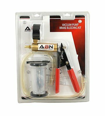 ABN Vacuum Pump/Brake Bleed Kit for Automotive Applications Solid Brass Cylinder