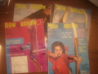 vintage bowhunting magazine, 1963 BOW & ARROW ...4 issues