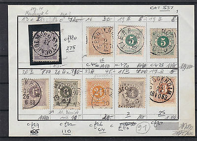 Sweden Early Stamps On Page , Cat £550+ .  Ref 461