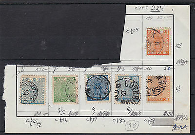 Sweden Early Stamps On Page , Cat £225+ .  Ref 462