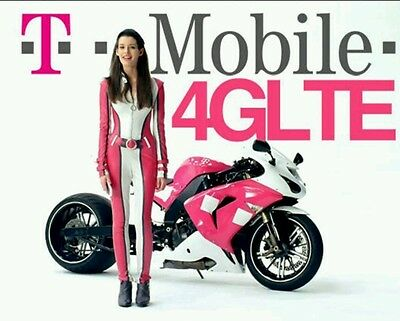 T-MOBILE PRELOADED SIM CARD $60 1ST MONTH FREE 10GB LTE DATA new# or port