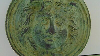 Roman Bronze Applique head of Gorgon Medusa Head, c. 2nd-3rd cent.