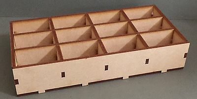 F328 Craft Storage Box Laser Cut MDF Organiser DESK TIDY Compartments Dividers