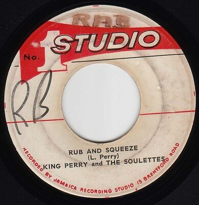 """♬ Ska Reggae Lee Perry & The Soulettes Rub And Squeeze Studio One JA 7""""♬"""