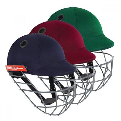 2018 Gray Nicolls Test Opener Green Cricket Helmet - Steel Grill