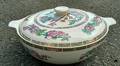 Vintage Lord Nelson Pottery Lidded Tureen Serving Dish Vegetable Indian Tree