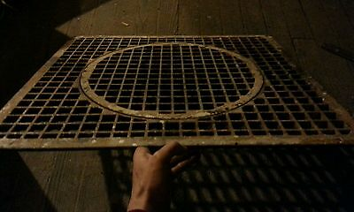 "Antique Architectual Salvage Heavy Cast Iron Floor Heating GRATE 28"" Steampunk"