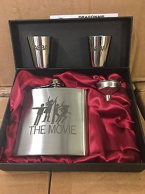 ABBA - The Movie Laser Engraved Stainless Steel 6oz Hip Flask Gift Set