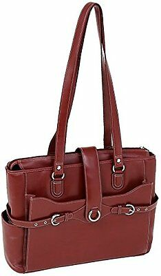 """McKlein USA Genuine Leather Womens Briefcase - 15.6"""" Laptop Business Tote Red"""