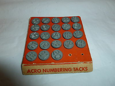 Vintage ACRO Hold Tite Numbering Tacks  Lot K-120