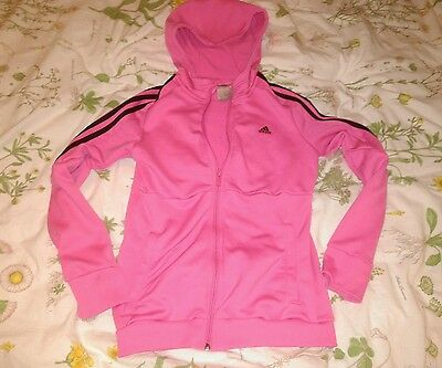 Girls ADIDAS Pink Hoodie with Zip front - Aged 11-12yrs