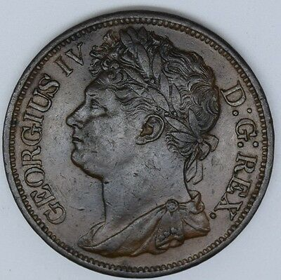 ireland 1822 penny high grade au-unc amazing coin
