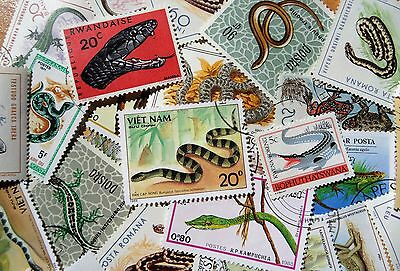 50 Thematic Reptiles/Amphibians/Dinosaurs CTO & Mint MNH Singles & Sets